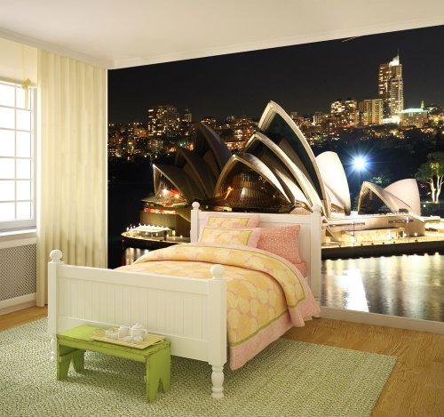 Fototapete Sydney Opera bei Nacht 420 x 270 cm Wandgestaltung Wanddekoration Fototapeten