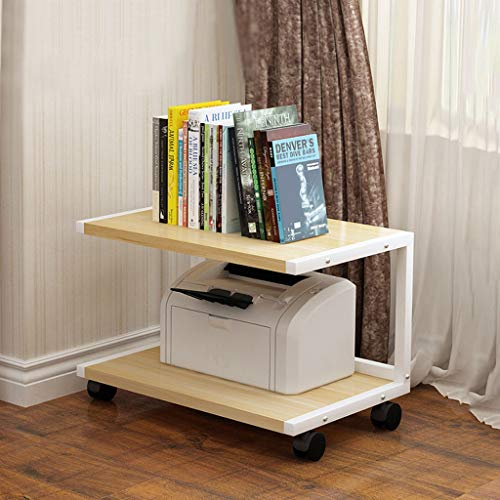 Home Printer Stands Rolling Printer Cart Machine Stand Multi-layer Storage Rack, Removable Printer Case Storage Rack Under The Desk for Small Printers Rolling Printer Stand ( Color : White )
