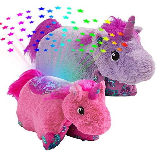 Pillow Pets-Colorful Unicorn Slumber Pack - Lavender Unicorn Pillow Pet & Pink Unicorn Sleeptime Lites (02512023R)