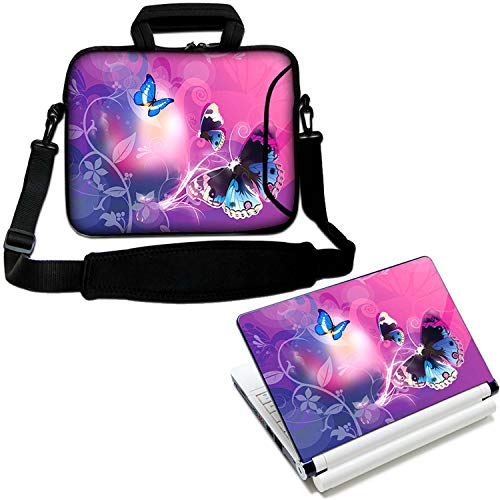 LUXBURG 15' Inch Luxury Design Laptop Notebook Sleeve Soft Case Bag With Handle and Shoulder Strap Plus Free Vinyl Decal! For Apple, Acer, Asus, Chromebook, Dell, HP, Lenovo Samsung Sony Toshiba etc