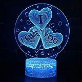 Kingchip LOVE YOU Hologram Night Light 3D LED USB...