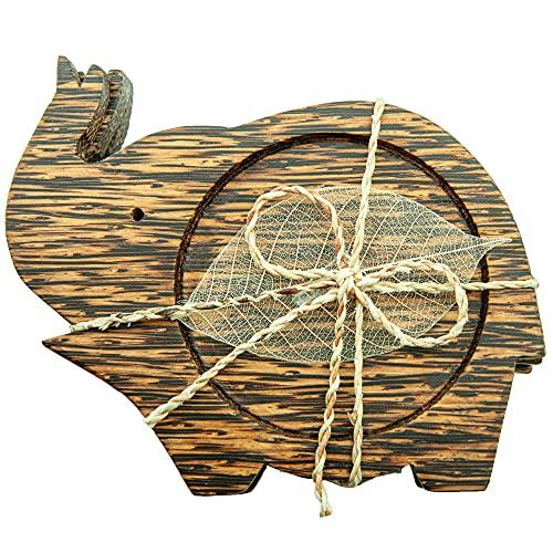 IYARA CRAFT Wood Coasters set of 3 for Drinks Tea Cups Saucers,Natural...