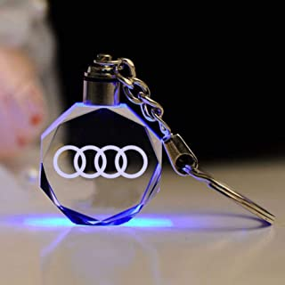 Fitracker LED Car Keychain Crystal Light Changing Car Key Chain Keyring Accessories for Mercedes Benz VW BMW Audi Toyota J...