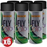 MOTIP - Pack pintura spray Fly Color Motip Kabra (6 botes pintura de 400ml Fly Color Motip) (Mate...