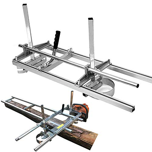 "SurmountWay Portable Chainsaw Mill Planking Milling from 14"" to 36"" Guide Bar Wood Lumber Cutting Sawmill Aluminum Steel Chainsaw Mills for Builders and Woodworkers (14''-36'')"