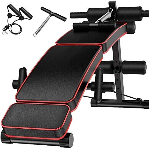 REWD Durable Sturdy Olympic Weight Benches for Home Gym Weight Bench Adjustable Abdominal Fitness Bench with Folding Bench with Dumbbells Abdominal Bench for Home Men's Fitness Equipment Supine Table