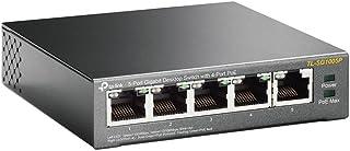 TP-Link スイッチングハブ ギガ 5ポート PoEハブ (4x PoE対応 全体最大56W) アンマネージ 5年保証 TL-SG1005P