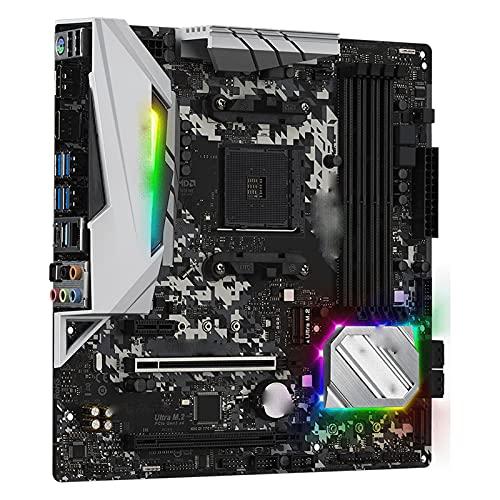 RKRLJX Placa Base de computadora Apta para fit for ASROCK B450M Steel Legend Micro-ATX AMD B450 DDR4 3466+ (OC) MHz M.2 USB3.1 Max-64G Placa Base