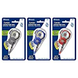 """BAZIC Correction Tape Jumbo 5 mm x 394"""", Mini Instant Corrections, Easy to Use Applicator Tapes Roller White Out for Office School & Home, 3-Pack"""