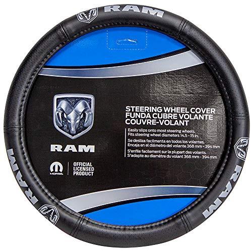 Plasticolor 006750R25 Dodge RAM Elite Gray Logo Car Truck SUV Steering Wheel Cover