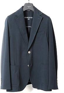 チルコロ 1901 CIRCOLO 1901 / 【国内正規品】 / 20SS!製品染めコットンストレッチライトジャージー2Bジャケット「CN2531」 (BLU NAVY/ネイビー) メンズ