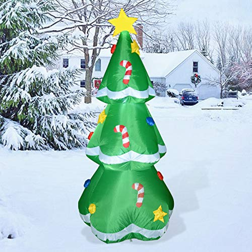 GOOSH 5 Ft Christmas Indoor Outdoor Inflatable Tree Decorations(5 Ft Christmas Inflatable Tree)