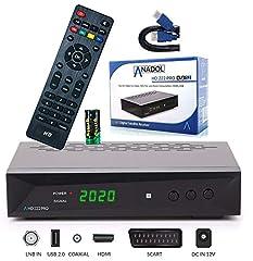 Anadol HD 222 Pro - PVR Recording, Timeshift, Multimedia - 1080P Digital HDTV Satellite Receiver for Satellite TV - Astra & Hotbird Pre-Installed - HDMI, SCART, USB, DVB-S/S2, HDMI Cable*