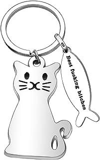 Lindo llavero de gato de metal con hebilla personal llavero herramienta de llavero 1 unidad