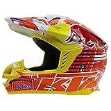Casco de motocross Regalos para hombres Casco integral deportivo todoterreno con certificación DOT/ECE Patrón Red Bull D,L=59-60CM