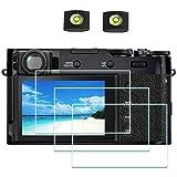 X100V - Pellicola proteggi schermo per fotocamera digitale Fujifilm X100V Fuji Film [confezione da 3] con copertura Hot Shoe, durezza 9H 0,3 mm, antigraffio, anti-impronta, anti-bolle, anti-polvere