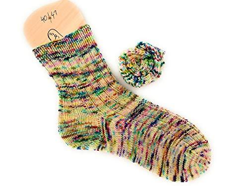 Socken handgestrickt Größe 40 41 bunt gesprenkelt