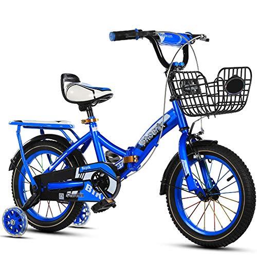 SYCHONG Bicicleta Plegable-Niños De Acero Al Carbono De Alta Bicicleta Plegable De...