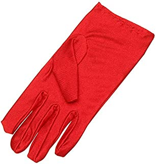 Women Dance Show Gloves Wedding Prom Stretchy Motorcycle Riding - Red