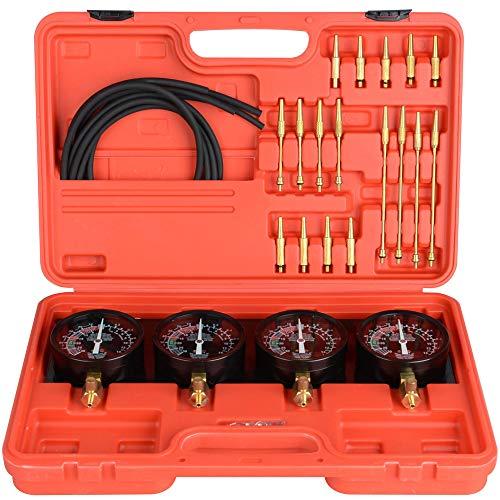 BELEY Fuel Vacuum Carburetor Synchronizer Gauge Set, 4-cilinder Motorfiets Balance Instrument Kit (universeel)