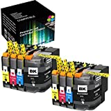 (2xBCYM) Green Toner Supply Compatible Super High Yield Black LC209 Ink Cartridge LC205 Color Combo for Brother MFC-J5520DW J5620DW J5720DW Printer