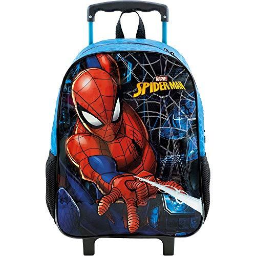 Mala Escolar com Rodas 16, Spider Man Haste, 8680, Azul