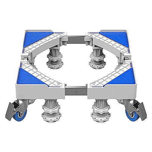 ZHUANYIYI Base della Lavatrice, 360 ° Movimento Rotante Cassaforte Antiscivolo 4 Ruote 8 Gambe Base per elettrodomestici, Lunghezza e Larghezza: 40-70 cm, 45-75 cm