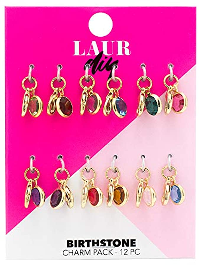 LaurDIY 37600063 Birthstone Charm Pack, Multi