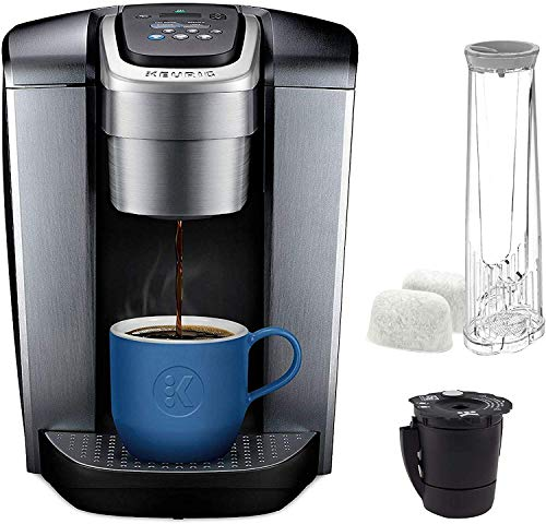 Keurig K Elite coffee-machine, One Size, Brushed Silver And Extra Filter
