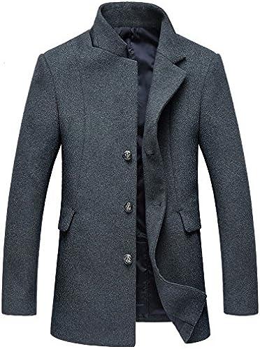 Fvbuhhi Cheveux Long Manteau de Fourrure d'hiver, Hommes Loden Occasionnels,gris,XL