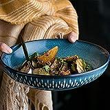 COOLSHOPY el Norte de Europa hogar Europeo Creativo vajilla tazón de Sopa/Bol/tazón de cerámica/Lavabo bajo/Olla/Cuenca Vegetal Hogar