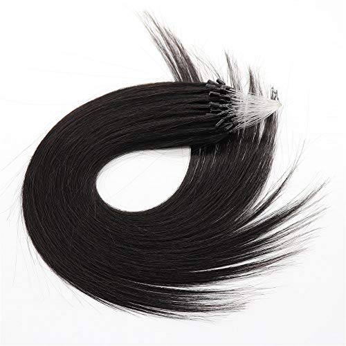 Micro Ring Hair Extension Human Hair 1g/Strand 50Strands 50g Micro Ring Bead Hair Extension Remy Hair For Women (18inch,...