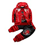boys Kids & Toddler marvel spiderman cotton Hoodies and Pants sweatpants T-shirts Vest sweatpants costume clothes birthday suits Halloween Cosplay outfit pajamas 3 piece size outfit spiderman 7 8