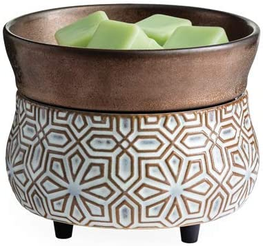 Candle Warmers Etc 2-In-1 Candle and Fragrance Warmer For Warming Scented Candles or Wax Melts and Tarts With To Freshen Room, Sandstone