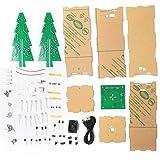 Kit electrónico DIY Christmas Tree, luz Intermitente LED Árbol de Navidad electrónico con Kit de producción de música MP3 estéreo