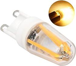 مصباح G9 220V Extaum G9 ثنائي باعث للضوء 20V COB من مادة التنجستين لمبة انبعاث للضوء لغرفة المعيشة إضاءة الثريا (أبيض دافئ)