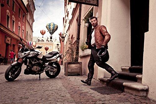 Shima CALIBER Herren Retro Vintage Custom Sommer Motorradhandschuhe (S-XXL, Braun), M - 10
