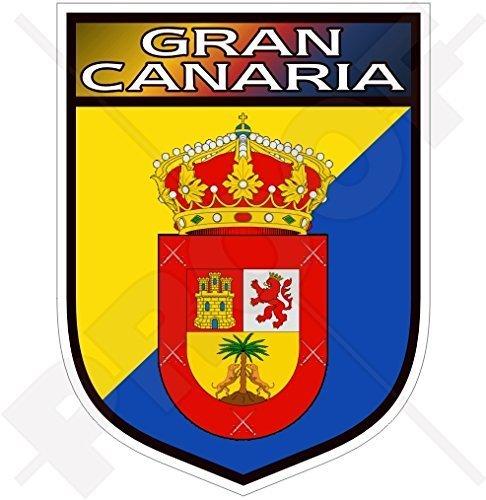 GRAN CANARIA Schild KANARISCHE INSELN Spanien, Kanarische Inseln Spanisch 100mm Auto & Motorrad Aufkleber, Vinyl Sticker