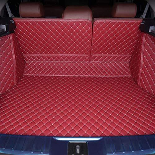 PXX Auto Trunk Mat, voor Kia NIRO K3 K5 Soul Ceed Spectra Sportage Optima, Aangepaste Geavanceerde Auto Trunk Mat Ect Auto Accessoires Perfecte vorm Wijn Rood (1wr)