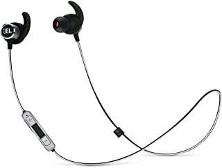 JBL Reflect Mini 2 Wireless In-Ear Sport Headphones with Three-Button Remote and Microphone - Black (Renewed)