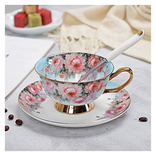 YTNGYTNG Taza De Agua De Tazas de té de Porcelana y platillos Hueso de Alto Grado China Copa de café Turco Juego de Bebidas turcas (Farbe : YF 1450U, Kapazität : 200 400ml)