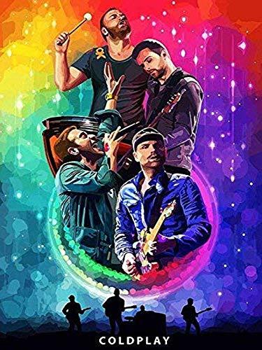 self Coldplay British Rock Band Guy Berryman Jonny Buckland Will Champion Chris Martin 12 x 16 inch Poster Bhurma Collection