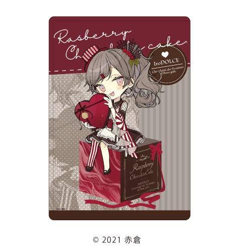 キャラクリアケース「イロドルチェ」01/ラズベリーチョコケーキ バレンタインver. (描き下ろし)