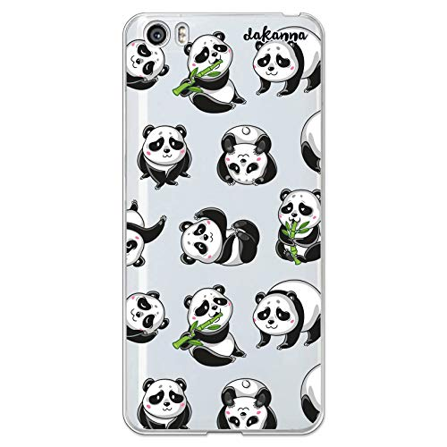 dakanna Funda Compatible con [Xiaomi Mi5 / Mi 5] de Silicona Flexible, Dibujo Diseño [Panda], Color [Fondo Transparente] Carcasa Case Cover de Gel TPU para Smartphone