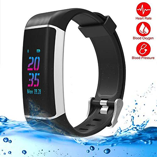 LMtt Fitness-Tracker, Elephone W7 GPS Heart Rate Smart Bracelet Wristband Heart Rate Monitor Sport Wireless Fitness Tracker Smart Band für IOS/Android,Black