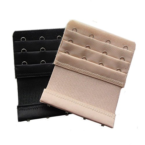 Lalago Women's Bra Strap Extenders 3x4 Hook,2 Pack (mixed color)