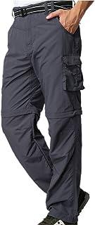 سروال رجالي للمشي لمسافات طويلة قابل للتحويل سريع الجفاف وخفيف الوزن بسحاب قبالة في الهواء الطلق سروال رحلات الصيد