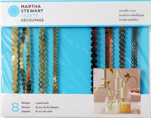 Martha Stewart Ambachten Metalen Trim Goud/Rose Decoupage Papier,