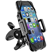 Beikell Supporto Bici Smartphone, Regolabile Porta Cellulare Bici con Manubrio Bici MTB Moto e Cinturino Silicone Estensibile per Bicicletta Ciclismo, GPS e Altri Dispositivi Elettronici