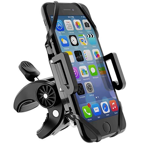 Beikell Telefoonhouder voor fiets, 360 graden draaibare universele motorfiets, telefoonhouder - voor iPhone X/8/7/6, Samsung en mobiele telefoon met 4,3-6,5 inch (beeldschermdiagonaal)